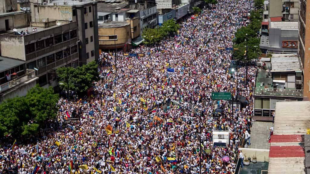 Protestas de opositores en Venezuela