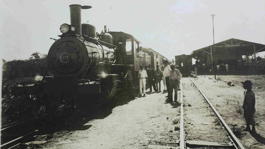 Estación de ferrocarril en Chalchuapa, Santa Ana