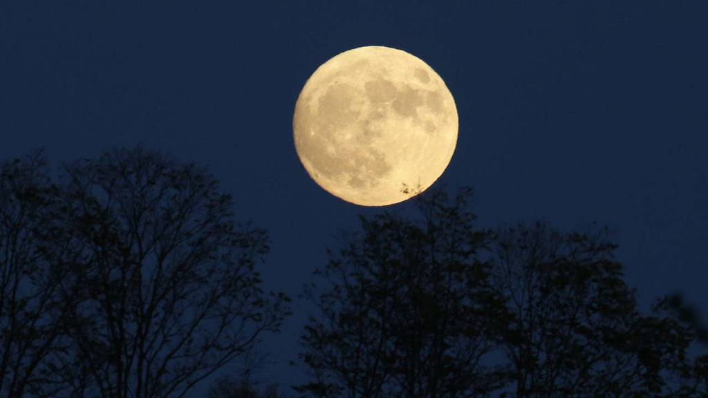 Supermoon rises over Virginia