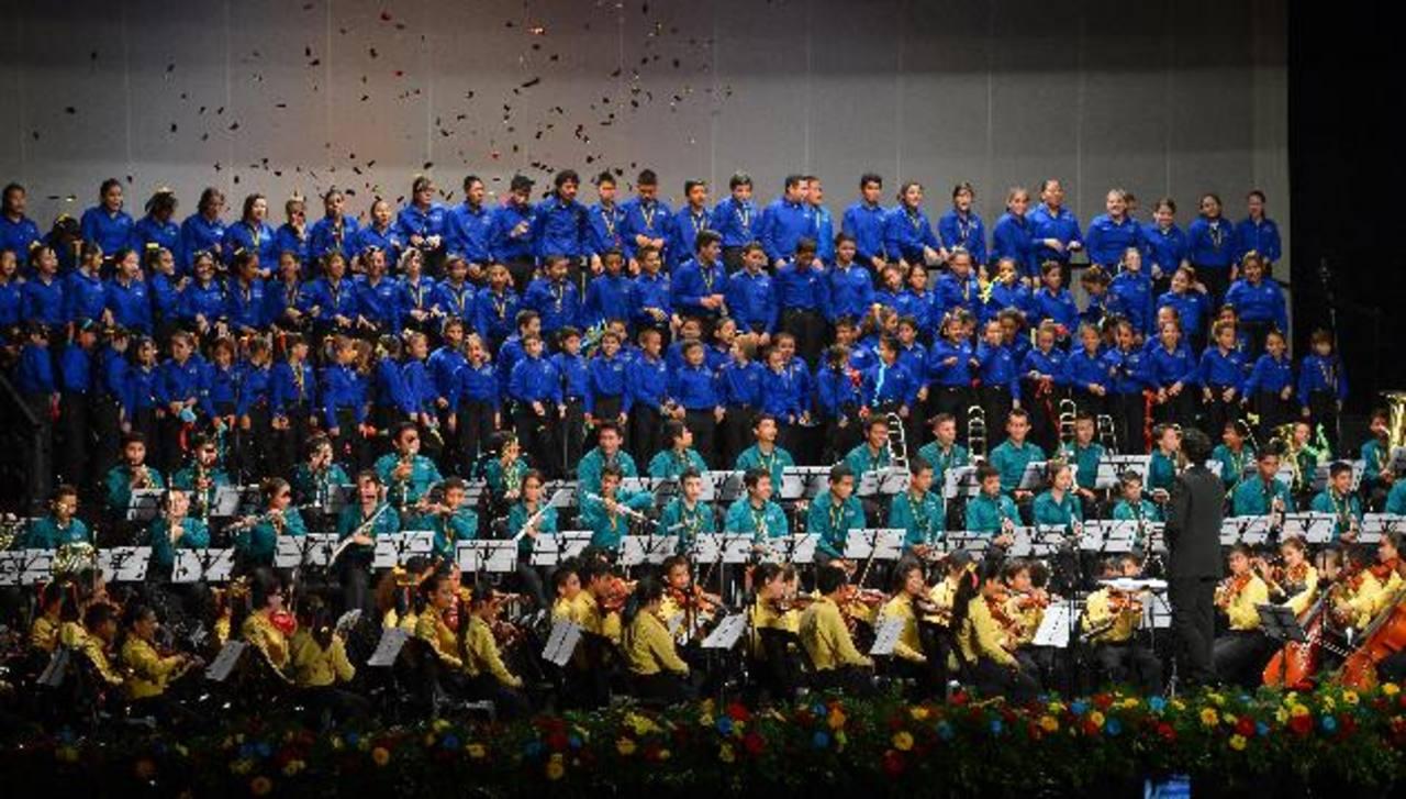 Durante el concierto todos los niños dieron lo mejor de si para demostrar su talento musical. Fotos edh/Mario amaya