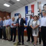 Conferencia de prensa de ARENA por tema seguridad y paro de buses el pasado 27 de julio.