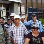 Veteranos protestan frente a Gobernación
