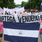 Protesta por canal de nicaragua