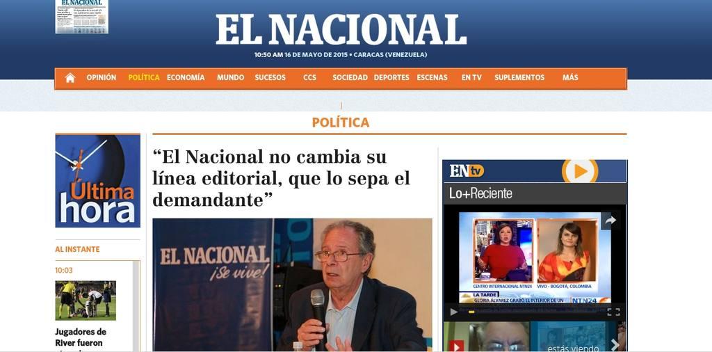 Diario El Nacional, de Venezuela.