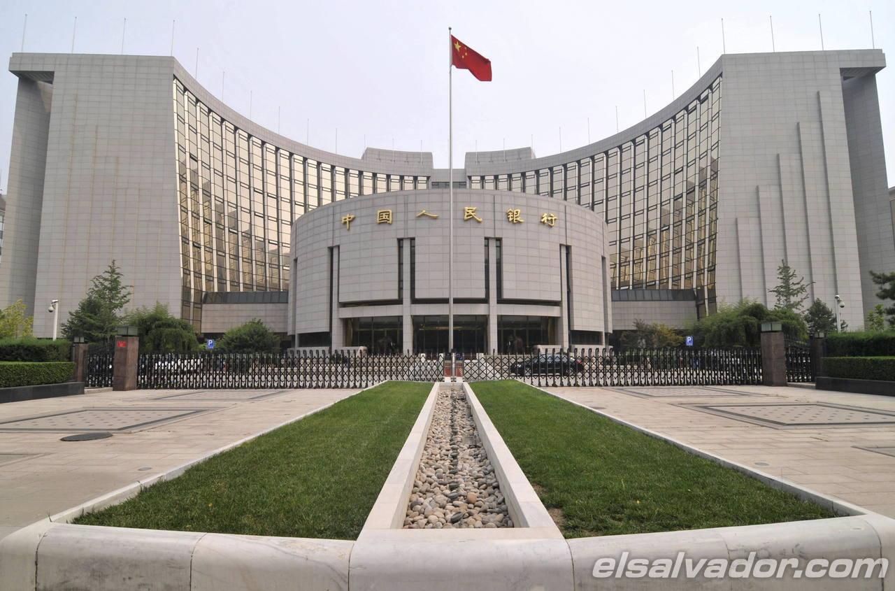 Sede del Banco Popular de China en Pekín, China