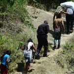 Escena de homicidio en Rio Jiboa a la altura del Canton Santa Anita de San Cristobal, Cuscatlan.