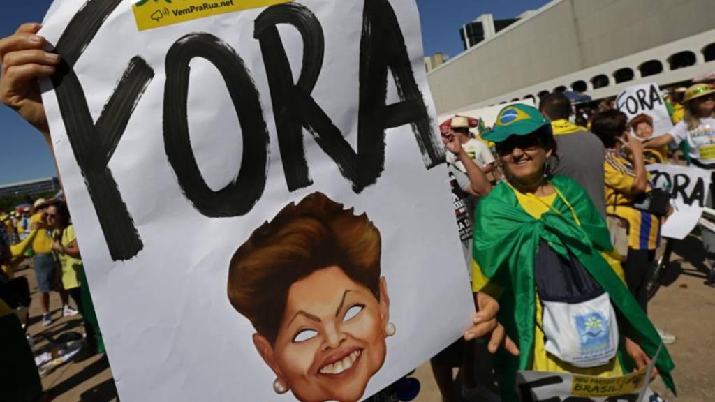 Protestas contra la corrupción.