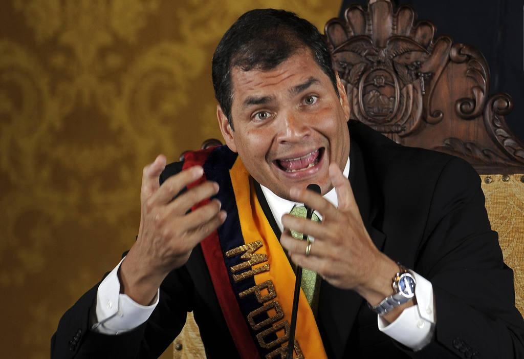 Rafael Correa, gobernante ecuatoriano.