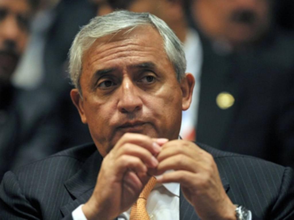 El presidente Otto Pérez Molina.