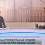 Jorge Velado, presidente de ARENA, durante la entrevista matutina Frente a Frente, de TCS.