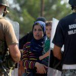 Refugiados en la frontera de Grecia