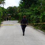 Dos personas fueron asesinadas en una de las calles del Caserio Buena Vista de San Pedro Perulapan.