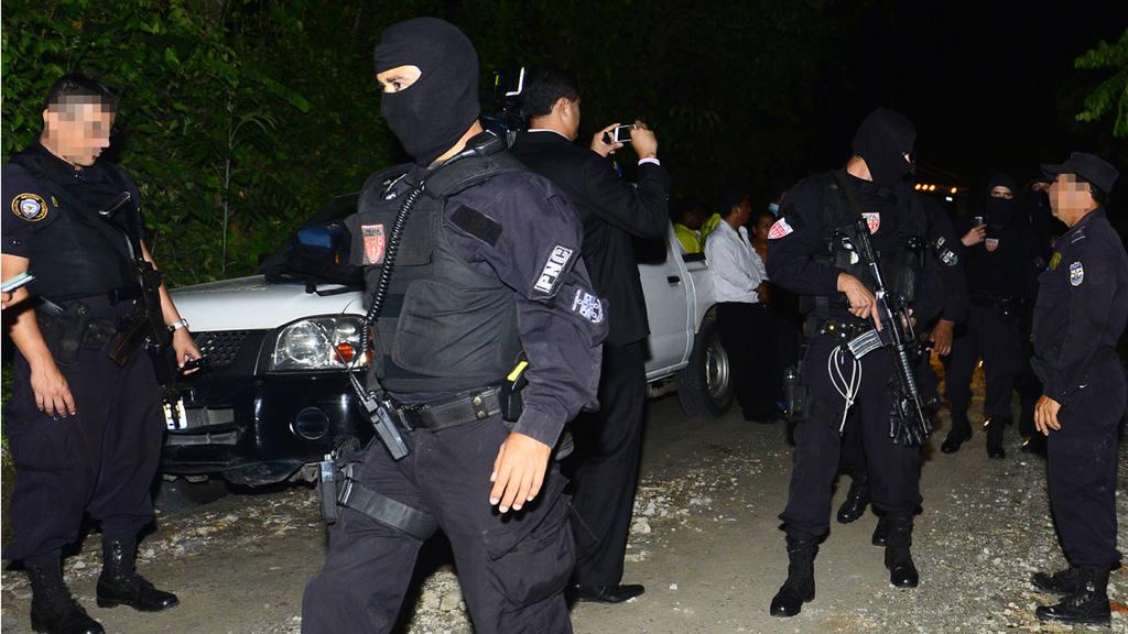 Bus ametrallado en San Pedro Perulapán