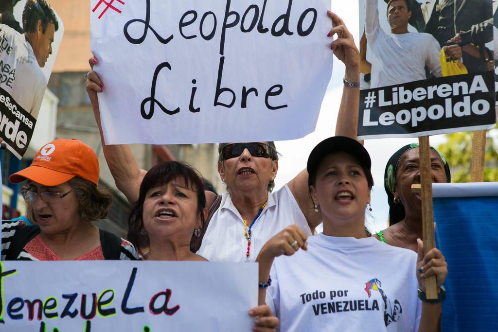 Protesta a favor de Leopoldo López.