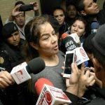 La exintendente Claudia Méndez a su llegada al tribunal.