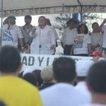 - Concentraci?n y protesta contra la corrupci?n, realizaron organizaciones de izquierda, en plaza El Salvador del Mundo