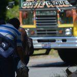 Escena de homicidio en Santa Cruz Michapa. La víctima un motorista de la R93