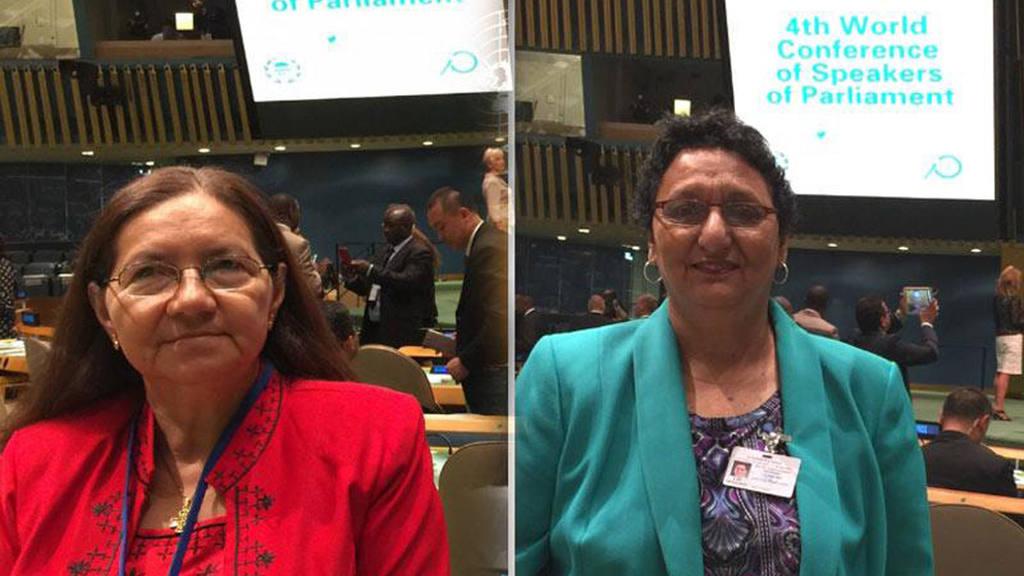Norma Guevara y Lorena Peña participaron en el Cuarto Congreso de Parlamentarios en la sede de las Naciones Unidas, en New York, Estados Unidos.