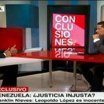 El exfiscal de Venezuela Franklin Nieves (iz).