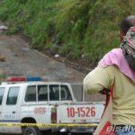 Escena de homicidio cuatro  hombres en calle que conduce a finca La Paz