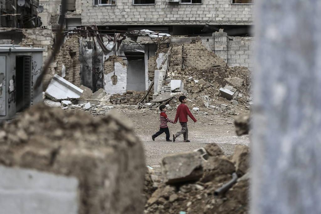 El barrio de Douma, en las afueras de Damasco, capital de Siria.