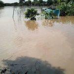 Candelaria de La Rompisión, pasaquina,  inundadas por el río Goascorán