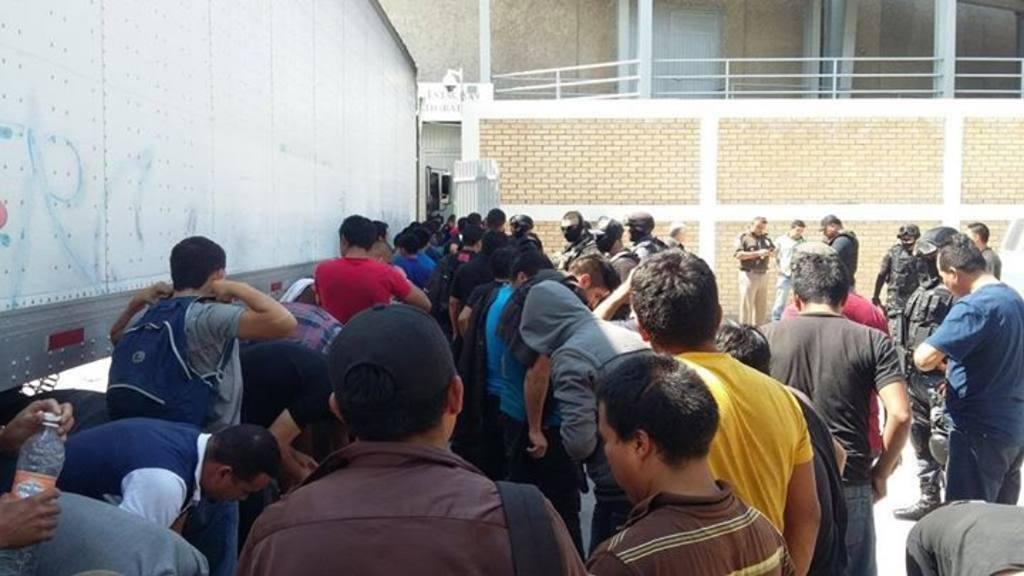 Los inmigrantes rescatados.