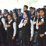 Estudiantes-de-bachillerato del Complejo Educativo Goldtree-Liebes