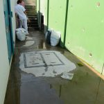 Nuevo Hospital de Maternidad presenta una rotura en una tuberia en las sercanias de la bomba de agua.