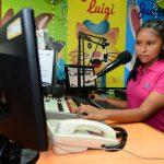 Claudia Yamilet Campos de 12 años locutora de Radio UPA.