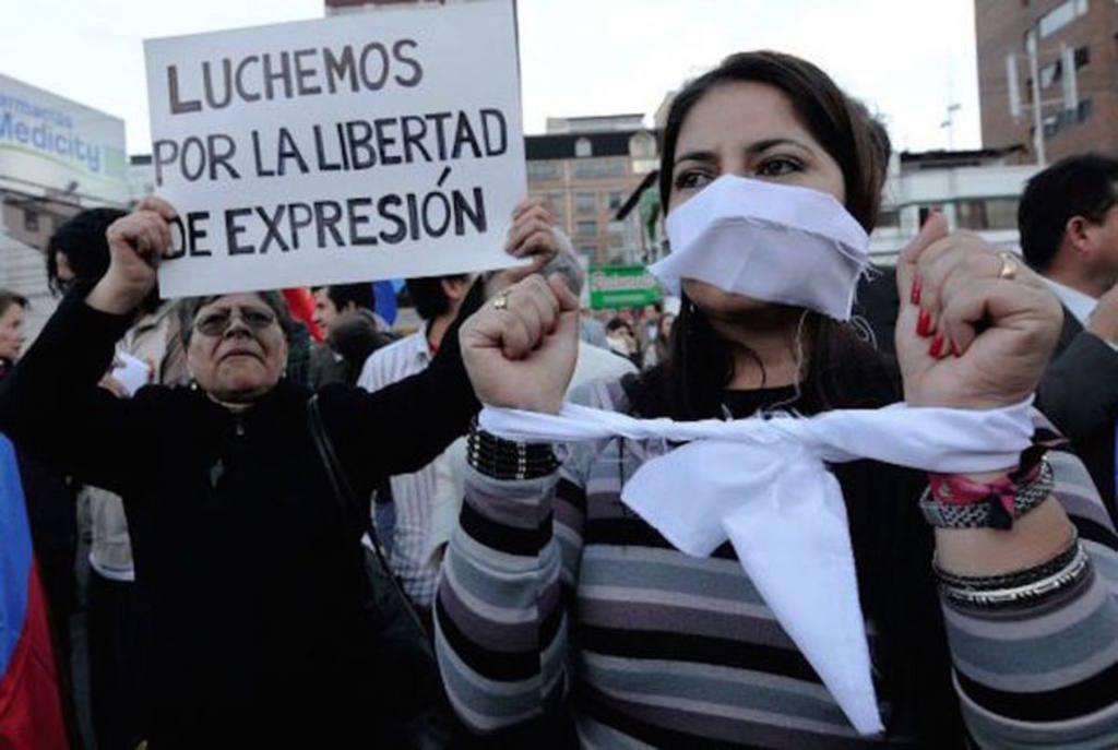 Protesta por la libertad de expresión.