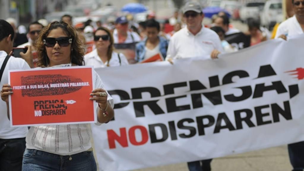 Protesta de periodistas