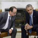 OBAMA SE RE?NE CON FRAN?OIS HOLLANDE