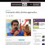 """En su nota editorial, el """"Post"""" recuerda que el régimen de Maduro """"ha rechazado"""" la observación electoral propuesta por la OEA y la Unión Europea."""
