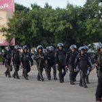 Agentes antimotines nicaragüenses han sido desplegados para custodiar la frontera de Peñas Blancas y evitar el paso de migrantes cubanos.