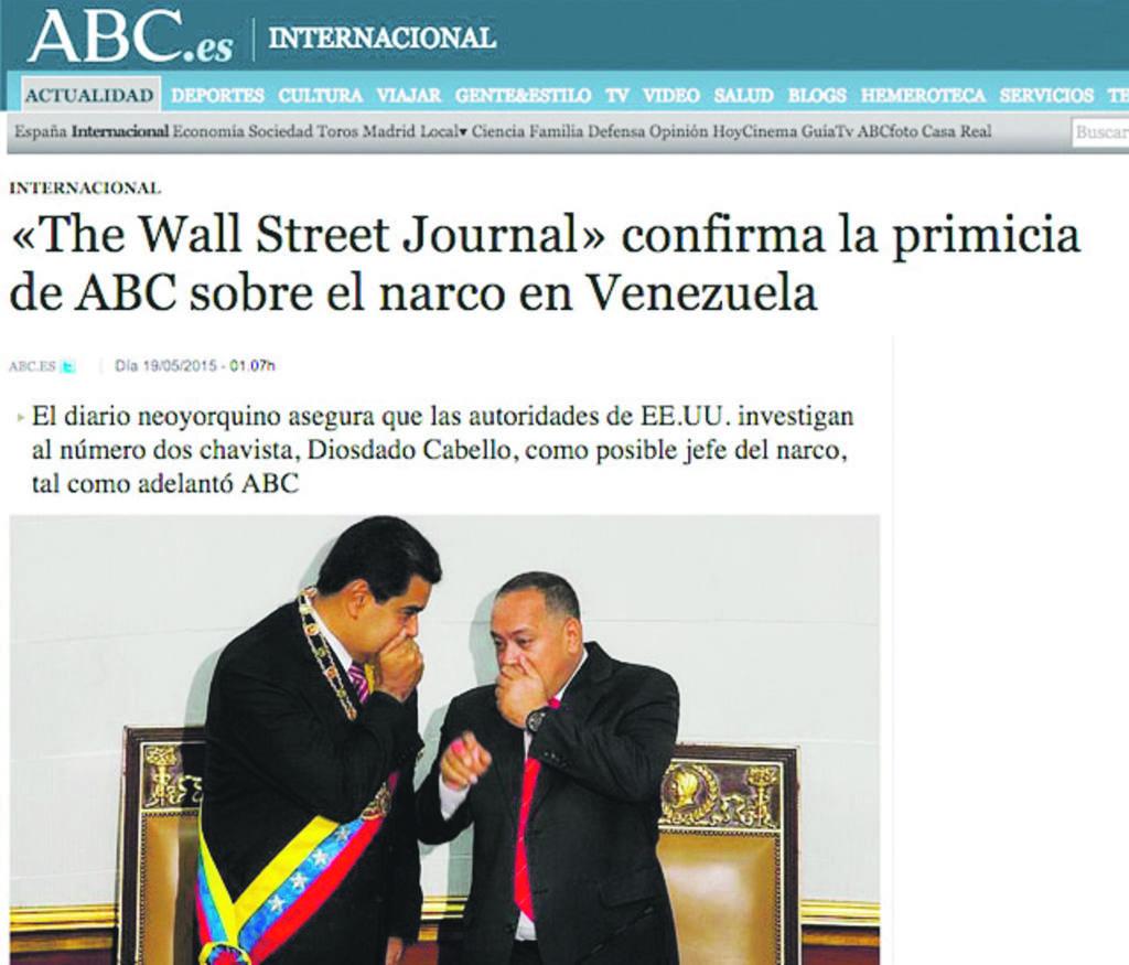Diosdado Cabello (derecha) es investigado por Estados Unidos por supuestos vínculos con el narcotráfico.