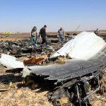 Los restos del avión de MetroJet derribado el 31 de octubre sobre el Sinaí.
