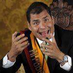 El gobernante Rafael Correa