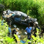 Accidente en carretera a Sensuntepeque