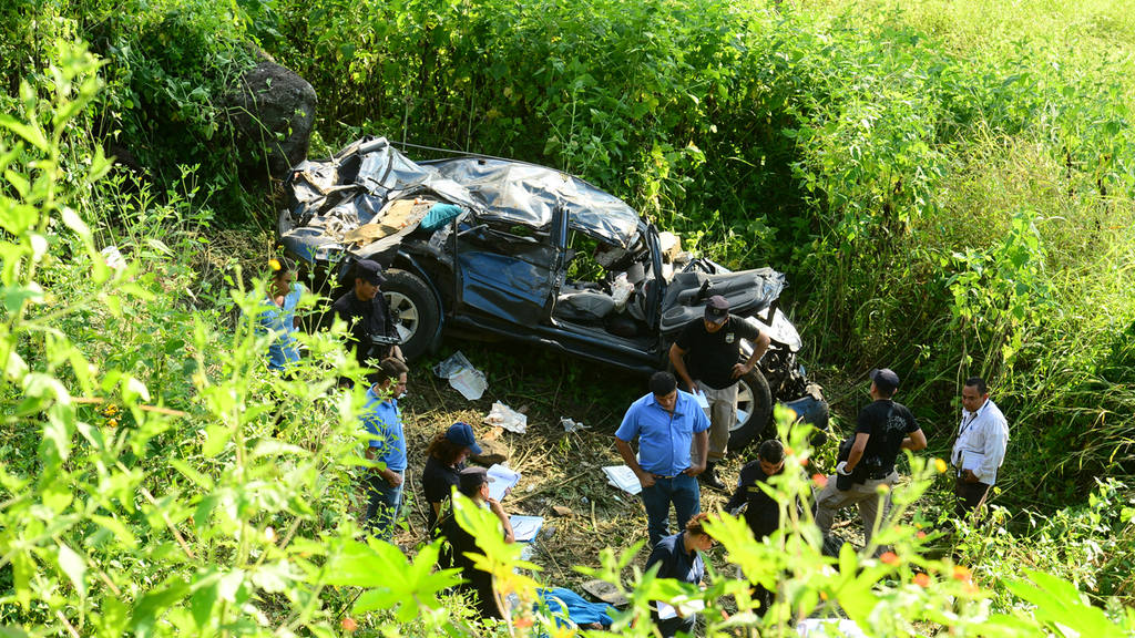Accidente en carretera a Sensuntepeque