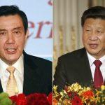 A la izquierda, el presidente de Taiwán, Ma Ying-jeou, y, a la derecha, el gobernante chino Xi Jinping.