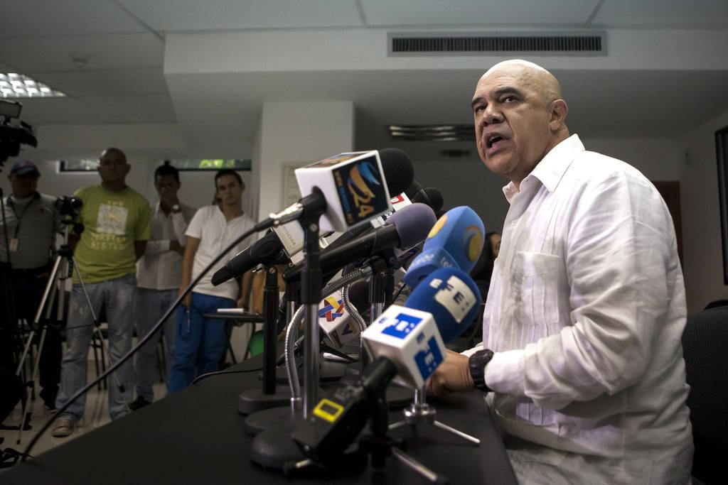 El secretario ejecutivo de la coalición opositora Mesa de la Unidad Democrática (MUD), Jesús Torrealba.
