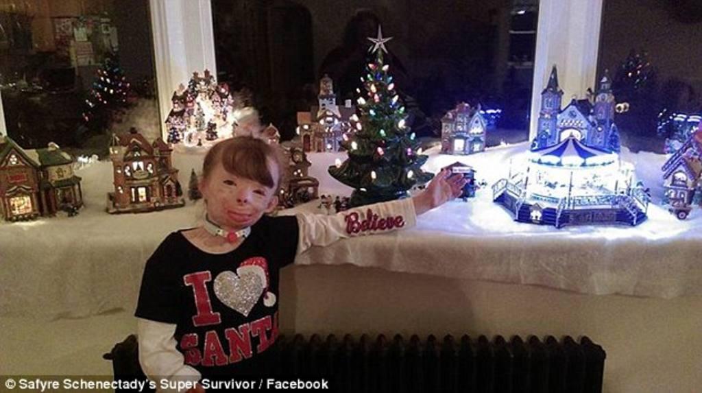 La pequeña Safyre Terry, que vive con sus tíos en Nueva York.
