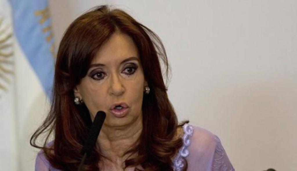 La gobernante argentina saliente, Cristina Fernández de Kirchner.