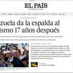 Portada del diario español El País