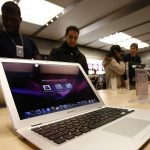 MacBook Air is displayed at the Apple Store in New York
