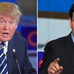 A la izquierda, el magnate Donald Trump, y, a la derecha, el senador Marco Rubio.
