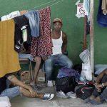 Parte de los cubanos en los albergues ubicados en el pueblo de La Cruz, Costa Rica.
