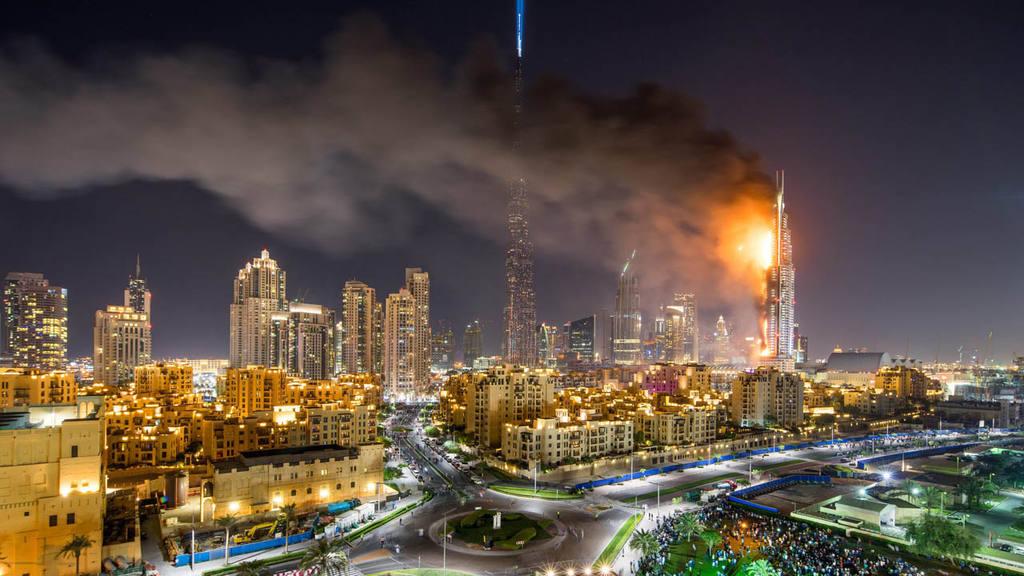 Al menos 16 heridos tras incendio en rascacielos de Dubai