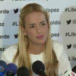 Lilian Tintori, esposa del líder opositor Leopoldo López.